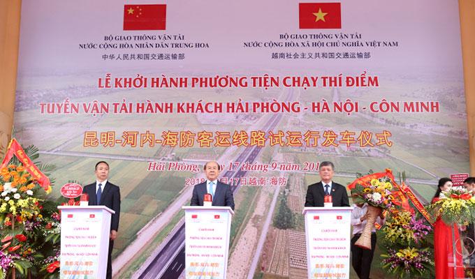 Viet Nam, China pilot passenger transport route