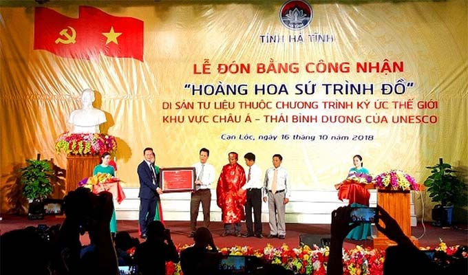 """Hoang Hoa su trinh do"" receives UNESCO recognition"