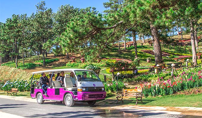 Electric car service for tourists to be launched in Da Lat