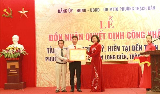Twenty-three imperial decrees at Tran Vu Temple recognized as precious documents