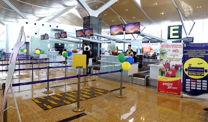 Vietjet Air starts int'l flight services at Cam Ranh airport's T2 terminal