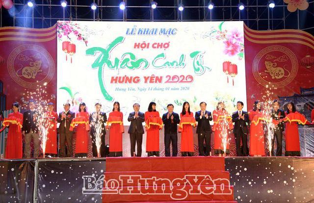 Hưng Yên: Hơn 200 gian hàng tham gia Hội chợ Xuân Canh Tý
